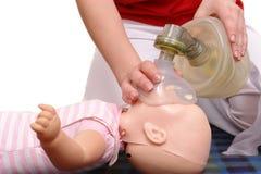 Demonstração da respiração artificial Imagem de Stock Royalty Free