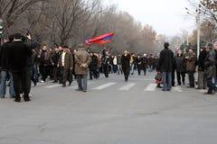 Demonstratie in Armenië Stock Fotografie