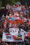 Demonstratie in Berlijn op 16 Mei 2009 Stock Fotografie