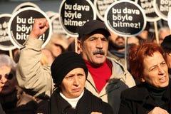 Demonstratie bij de moord van de Journalist royalty-vrije stock foto