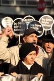 Demonstratie bij de moord van de Journalist stock fotografie