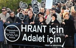 Demonstratie bij de moord van de Journalist stock foto