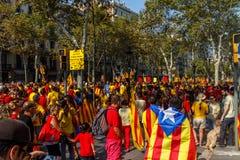 Demonstratie in de vorm van Barcelona fridoom van Catalonië Royalty-vrije Stock Afbeelding