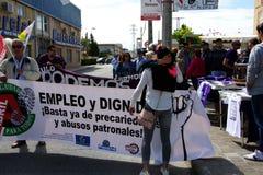Demonstratie in Marchena Sevilla 3 Stock Fotografie