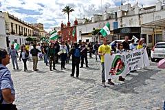 Demonstratie in Marchena Sevilla 7 Stock Foto