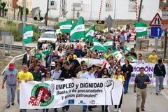 Demonstratie in Marchena Sevilla 10 Royalty-vrije Stock Afbeelding