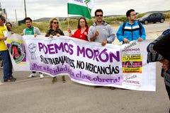 Demonstratie in Marchena Sevilla 12 Stock Afbeeldingen