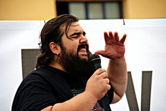 Demonstratie in Marchena Sevilla 14 Stock Foto