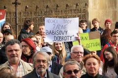 Demonstratie in Olomouc Royalty-vrije Stock Afbeeldingen