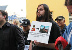Demonstratie in Olomouc Stock Foto