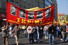 Demonstratie op Meidag royalty-vrije stock afbeelding