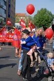 Demonstratie op Meidag in Berlijn Royalty-vrije Stock Afbeeldingen