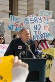 Demonstratie tegen de Rekening van de Immigratie in Atlanta Stock Afbeeldingen