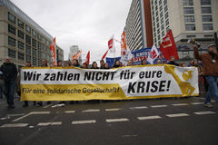 Demonstratie tegen G20 beleid Stock Foto's