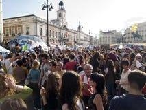 Demonstratie tegen politieke klasse in Madrid Royalty-vrije Stock Foto's