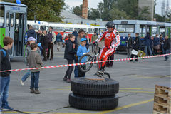 Demonstratie 3 van de fietsvaardigheid Royalty-vrije Stock Fotografie