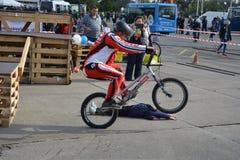 Demonstratie 7 van de fietsvaardigheid Stock Afbeelding