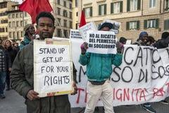 Demonstratie van immigranten stock fotografie