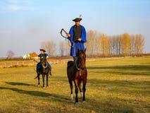 demonstratie van Paardmanege, Hortobagy, Hongarije royalty-vrije stock foto's
