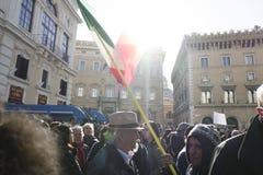 Demonstratieaardbeving centraal van Italië Royalty-vrije Stock Foto's