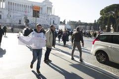 Demonstratieaardbeving centraal van Italië Stock Foto