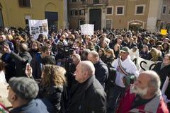 Demonstratieaardbeving centraal van Italië Royalty-vrije Stock Foto