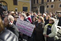 Demonstratieaardbeving centraal van Italië Royalty-vrije Stock Afbeelding