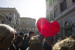 Demonstratieaardbeving centraal van Italië Stock Afbeelding