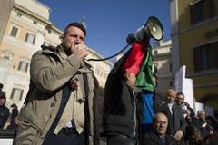 Demonstratieaardbeving centraal van Italië Stock Foto's