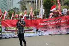 Demonstraties in de straten Royalty-vrije Stock Afbeelding