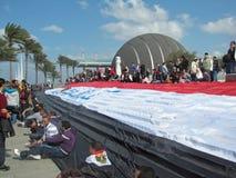 Demonstratiesystemen bij de Bibliotheek van Alexandrië Stock Foto