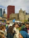 Demonstratiesystemen in Maart voor Wetenschap in Chicago, de V.S. Royalty-vrije Stock Fotografie