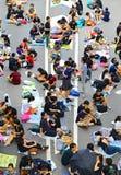 Demonstratiesystemenafstand houden in admiraliteit, Hongkong Stock Foto