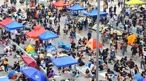 Demonstratiesystemenafstand houden in admiraliteit, Hongkong Royalty-vrije Stock Afbeeldingen