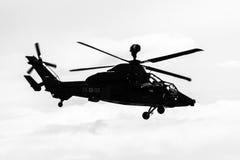 Demonstratievlucht van de Tijgeruht van Eurocopter van de aanvalshelikopter stock afbeelding