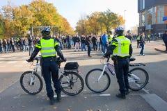 Demonstrating against refugee camp Stock Images