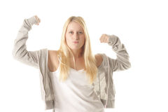 Demonstrating muscles Royalty Free Stock Images