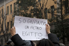 Demonstration. People in a demostration in italy Stock Photo