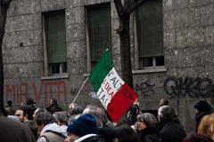 Demonstration. People in a demostration in italy Royalty Free Stock Photo