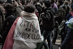 Demonstration. People in a demostration in italy Royalty Free Stock Image