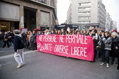 Demonstration. People in a demostration in italy Stock Images