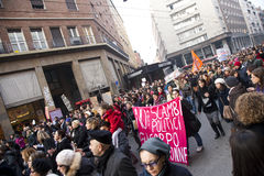 Demonstration. People in a demostration in italy Stock Photos