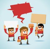 Demonstration. Protest Demonstration. Neat Vector illustration royalty free illustration