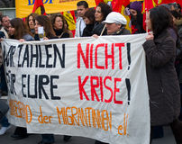 Demonstration on 28 March 2009 in Berlin, Germany Royalty Free Stock Photo
