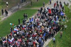Demonstration am 8. Mai Lizenzfreie Stockbilder