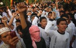 Demonstration agains die Festnahme von baasyir Stockfotos