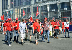 Demonstration against austerity measures Stock Images