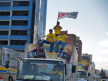 Demonstration against the closure of the brewing Pilsener plant Stock Image