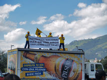 Demonstration against the closure of the brewing Pilsener plant Royalty Free Stock Photo