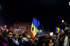 Demonstration against corruption in Bucharest Royalty Free Stock Image